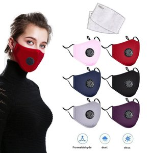 Masque anti-poussière Earloop avec la respiration Réutilisable Masques bouche réglable Valve souple respirant anti-poussière Masques de protection par dhl