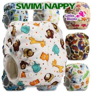 Bebek Yeniden kullanılabilir 1PC Swim Bezi erkek veya kız Karikatür Mayo Çocuk ayarlanabilir yaz yüzme Nappy pantolon Bezi