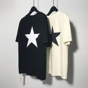 2020 Kanye T-shirt Robe solide d'été des hommes Pentagram T-shirt Saison 5 Kanye West coton gris T-shirt Kanye surdimensionnée T-shirts D30