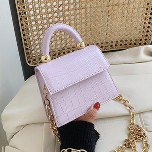 Stone patent mini Crossbody Bags For Women 2020 Small Handbag Small Bag PU Leather Hand Bag Ladies Designer Evening Bags