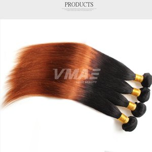 Ombre Hair Extensions Two Tone прямые волосы прямые волосы девственницы сотка Two Tone 1B 30 Ombre Шиньон Плетение Связки