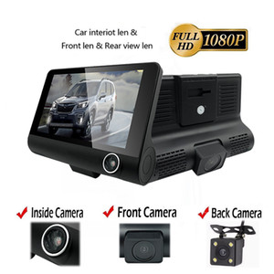 1080HD Night Vision 4.0 inch 170 Degree Rear View Auto Registrator with Two Cameras Dash Cam Car DVR Dual Lens Video Recorder Auto Recorder