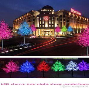 الفروع عطلة ضوء LED زهر الكرز شجرة الخفيفة 1.5M 1.8M السنة الجديدة الديكور زفاف شجرة مصباح الإضاءة في الهواء الطلق