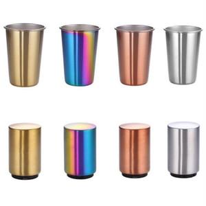 Paslanmaz Çelik Cup Coffee Kupalar Bira Çay Suyu Süt Şarap Bardaklar Bırak Geçirmez Cam Açık Kamp Seyahat Kupalar Çocuk Kupası Drinkware C6979 İçki