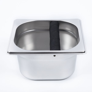 Edelstahl Kaffeesatz Knock Out Box Espresso Waste Recycling-Halter Grinds Manipulationswerkzeug Ersatz Coffeeware