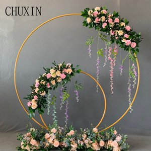 Wedding props wrought iron round ring arch wall artificial flower decoration home holiday celebration wedding photography Shelf T200703