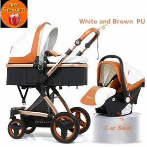 Belecoo Многофункциональная Детская коляска 2 в 1 Коляска High ландшафтной Прам Сюиты для Лежа и Фиксирующегося с 5 Подарками c93n #