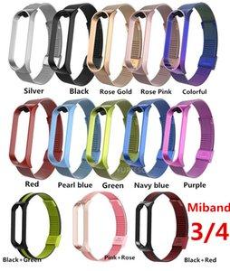 Nueva correa del metal de acero inoxidable para Xiaomi Mi Banda correa de muñeca para Xiaomi 4 4 3 Miband pulsera para Mi Banda 4