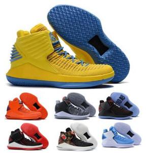 32 32s обувь Flight Баскетбол для мужчин Mens Желтый китайский Новый год Finale Jumpman XXXII высокого качества 2020 Классический Кроссовки Обувь Кроссовки