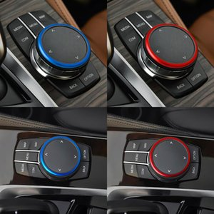 Pulsante Car Multimedia Sticker Cover per G30 G38 Anello 528 530 540Li Serie 5 decorativo iDrive Trim Sticker Cover Circle