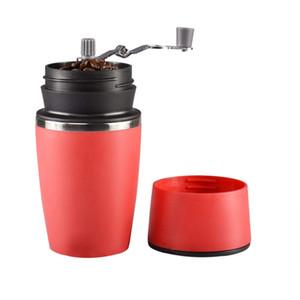 ile KOLAY-Taşınabilir Manuel Kahve Öğütücü, Ayarlanabilir Tek Kupası Kahve Makinesi Seramik Burr Kahve Öğütücü Mug Dahili Grind ve