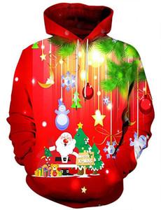 Felpe con cappuccio da uomo Designer Christmas Print Felpe con cappuccio Fashion Womens Spring and Autumn Tops Casual Matching Clothes