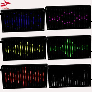 Freeshipping Diy Music Spectrum Display Tamanho Grande 256 Segmento de Som Led Music Spectrum Eletrônico Diy Led Flash Kit 6 Cores