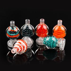 Новый дизайн Carb Cap Красочные стекла Bubble Бал стекла крышки для Скошенные края кварца сосиска мазок вышке стекла воды Бонг