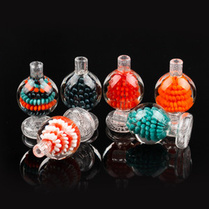Neue Design-Carb Cap Bunte Glas Bubble Ball Glaskappen für bong dab Quarz banger Schrägkante rig Glas Wasser