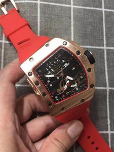 2020 Новый стиль отдыха РИЧАРД Марка Дизайнерская часы Мужчины или женщины черепа спорта Кварцевые часы Big Bang Мужские кварцевые часы Бесплатная доставка
