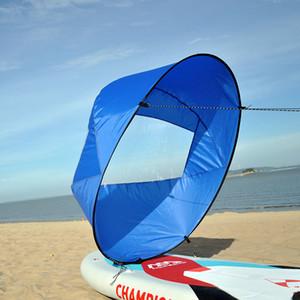 """Portable Kayak Barca a remi 42"""" pieghevole Vento Sail Canoa Sup durevole del bordo di pala con Clear Window Drop Shipping 108 * 108 centimetri"""