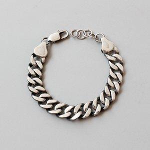 Link Chain Punk Party браслет 925 стерлингового серебра браслеты для женщин Серебряного массива Joyas De Plata Mujer Fine Jewelry