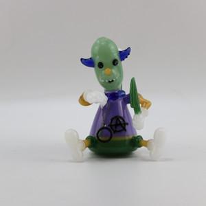 tabacco için ana tasarım el yapımı cam komik küçük Joker kurulamak kulesi petrol kulesi su içilmez borusu
