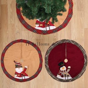 Ev Floor için 1pc 105cm Yılbaşı Ağacı Etek Yuvarlak Kırmızı Halı Noel Süsleri Mat Yeni Yıl 2019 Ağacı Etekler