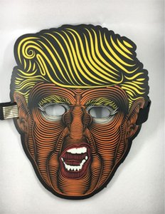 USA Donald Trump 2020 Maschere piene a forma di farfalla Glowing Party Half Mask Fit Halloween Forniture vendita calda 33qy E1