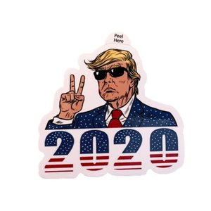 Trump Notebook Sticker 2020 ABD Başkanlık Seçim Trump Sticker Kampanyası Destekçi Notebook Sticker Araç Paster 4 Styles BH2039 CY