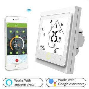Su / Elektrik zemin Isıtma Su / Gaz Kazanı için WiFi Akıllı Termostat Sıcaklık Kontrol Alexa Google Ana Sayfa ile çalışır