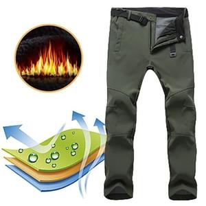 de los nuevos hombres al aire libre de invierno impermeabilizan ir de camping Pantalones Escalada Pesca pantalones calientes Esquí Trekking Softshell Polar 2020