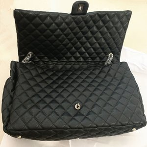 2020 Mode Frauen Große Kapazität Duffel Taschen 46 CM Gesteppte Kette Schulter Luxus Einkaufstasche Flughafen Tasche Weekender Reisetaschen 44
