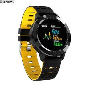 CF58 smart watch IP67 impermeabile in vetro temperato attività Fitness Monitor frequenza cardiaca inseguitore di sport degli uomini le donne intelligenti banda