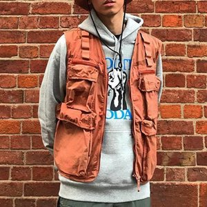19SS Camo Cargo-Weste Tactical Kleidung Berg Außen Männer Frauen Mantel-Straße beiläufige Sport Outwear Jacke Größe S-XL