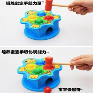 Wool Animals Knock On Table Hands-on Ability To Beat Children's Early Learning Wooden Baby Playing Hamster Educational Toys