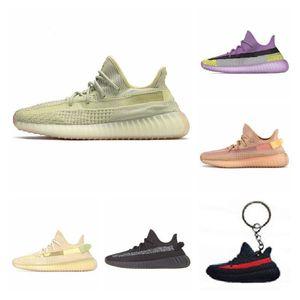 Refective Yecheil Desigmor Barro Vermelho estático Running Shoes Hyperspace verdadeira forma Black Top Amarelo Qualidade Sneakers Homens Mulheres J # 006328