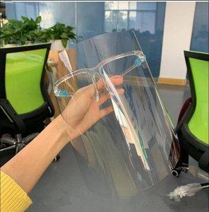 ABD Stok Temizle Koruyucu Yüz Kalkanı Plastik Ekran Tam Yüz Koruma İzolasyon Maskesi Anti-sis Yağ Koruyucu Kalkan Şapka FY8038 Maskesi