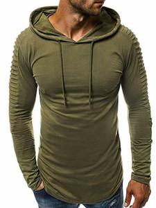 Modo di marca Mens Hoodies degli uomini di colore solido sottile incappucciato Felpa con cappuccio Mens Hip Hop con cappuccio sportivo Tuta