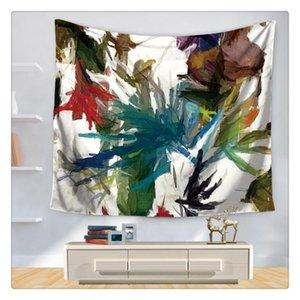 Grüne Blätter Tapestry Tropische Pflanze Wandbehang Bauernhof Home Decor Wandtischdecke Bedspread Tenture Teppich