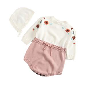 جديد 2019 أزياء الطفل السروال القصير الطفل الصبي الملابس أكمام الوليد محبوك رومبير طفلة ملابس بذلة الرضع الملابس J190525