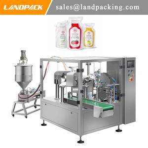 Machine de remplissage de poche de bec de sauce liquide Machine à emballer de sauce au miel de mayonnaise de ketchup vinaigrette