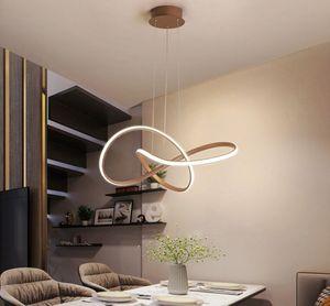 Brown White Frame LED Pendelleuchten für Küche Esszimmer Moderne Nordic Lampe Abajour Beleuchtung Luster Hängeleuchten Leuchten MYY