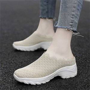 Running Shoes For Women Without Heels And Half-tuck Students Korean Version Of Baitie Casual Shoes For Women Breathable