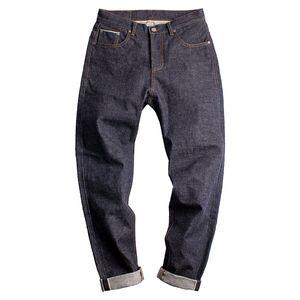 Maden 15 oz denim Jeans Uomo orecchio rosso cimosa vintage giapponese Amekaji dritto metà di vita Pantaloni Lunghi Pantaloni Abbigliamento Bottoms
