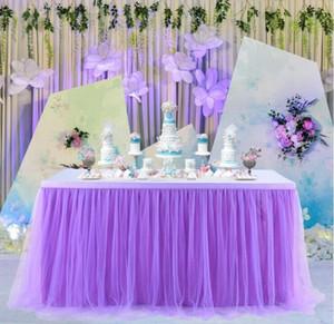 Enfants main Tutu Tulle Jupe de table couverture pour fille Princesse Birthday Party baby shower Slumber Party Décoration DHD199