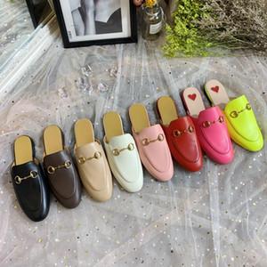 Design di lusso delle signore del Mens pantofole Princetown con muli in pelle fibbia rosa pantofole rosa uomini mulattiere donne fannulloni casuali diapositive tg 34-46