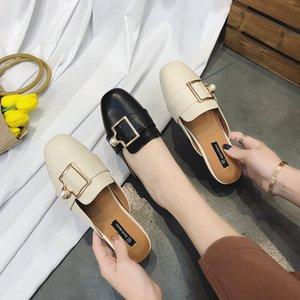 Single-scarpa femminile 2020 semirimorchi pantofole abbigliamento moda estate selvaggia fannulloni piani delle donne dei sandali pantofole scarpe da casa