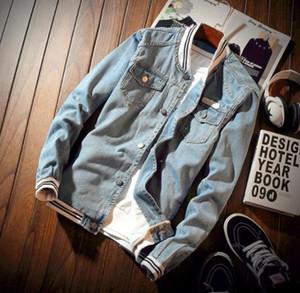 2020 Yeni Moda Erkek Pilot Denim Ceket Bahar Erkek ceketler Casual Giyim Erkek Sonbahar Casual Jean Ceket ve Coats