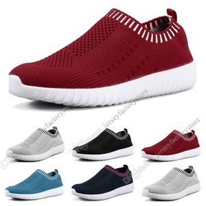 Best selling large size women's shoes flying women sneakers one foot breathable lightweight casual sports shoes running shoes Forty-three
