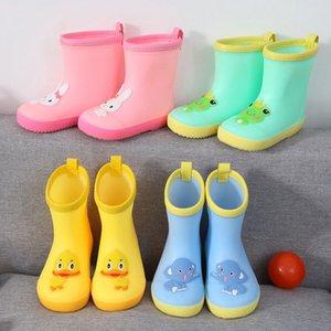 Kids 3D Cartoon Wasserdichte Stiefel Wellies Wasser Regen PVC Anti-Rutsch-Stiefel Kinder Jungen Mädchen Vier Jahreszeiten Regen Schuhe für 0-6years alt