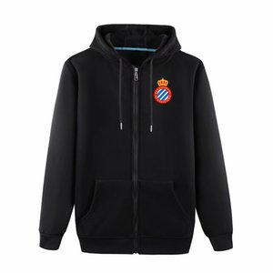 2020 espanyol Langarm-Jacke mit Kapuze Sportkleidung Fußball Fußball-Trainingsnazug Full-Zip Reisejacke mit Kapuze Trainingsherrenjacken