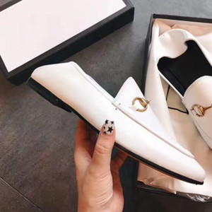 2019 la mode de haute qualité les plus récentes sandales en cuir chaussures en cuir dames classiques de vente chaude dames de mode design dames taille 34-40 Origina