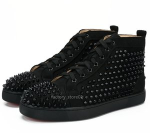 2020 Casual Shoes hococal Slip-on Roller Boat Crystal Leather New Red Bottoms Sport Mens Women Suede Spike Sneakers Dust Bag 36-47